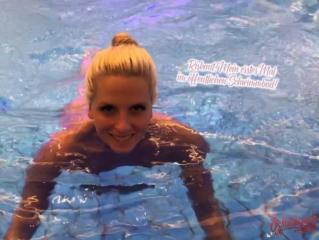 Riskant! Mein erstes Mal im öffentlichen Schwimmbad!