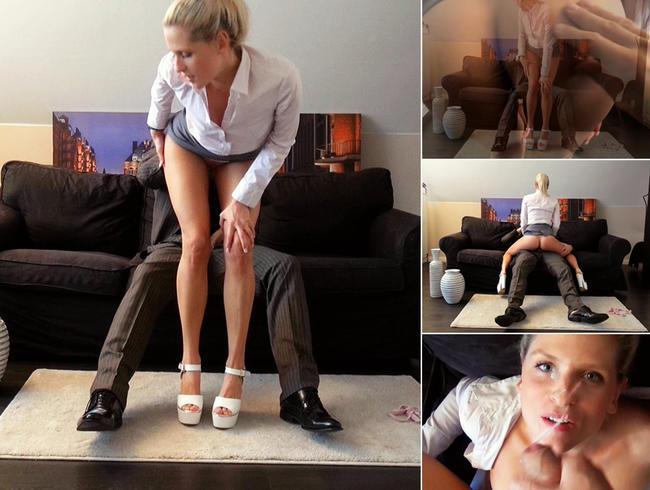Krasses Praktikum! Freundin der StiefTochter lässt sich im Büro ficken!