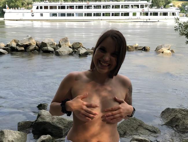 Public Sex an der Donau 3x erwischt